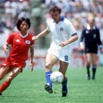 1986 World Cup Finals. Puebla, Mexico. 10th June, 1986. Italy 3 v South Korea 2. Italy's Pietro Vierchowod.