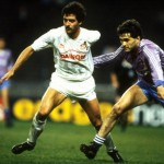 Bein of Cologne is challenged by Gordillo of Real Madrid
