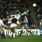 Agustin of Real Madrid clears the ball away during the UEFA Cup Final Second Leg match
