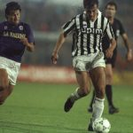 Gianluigi Casiraghi of Juventus and Dunga of Florentina