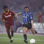 Fausto Pizzi of Inter Milan and Aldair of A.S. Roma