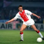 Football. UEFA Cup Final, Second Leg. Amsterdam, Holland. 13th May 1992. Ajax 0 v Torino 0 (Ajax win on away goals, first leg 2-2). Ajax's Michel Kreek.