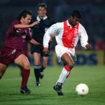 Football. UEFA Cup Final, Second Leg. Amsterdam, Holland. 13th May 1992. Ajax 0 v Torino 0 (Ajax win on away goals, first leg 2-2). Ajax's Aron Winter races forward.