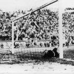 Italia-Cecoslovacchia 2-1; la rete di Puc, Combi e' battuto