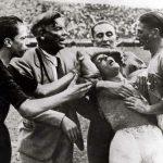 Italia-Spagna 1-1; infortunio a Meazza
