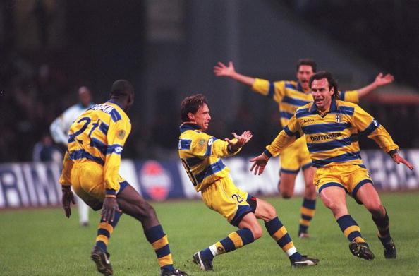 FUSSBALL: UEFA CUP 98/99/AC PARMA - OLYMPIQUE MARSEILLE 3:0