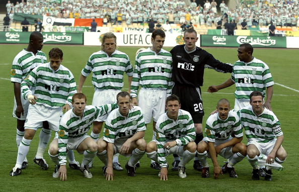 Celtic team during the UEFA Cup Final match