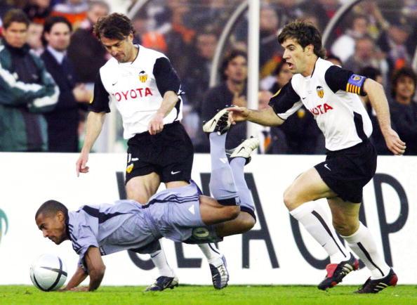 Fussball: UEFA Pokal 03/04, Finale, Olympique Marseille-FC Valencia 0:2
