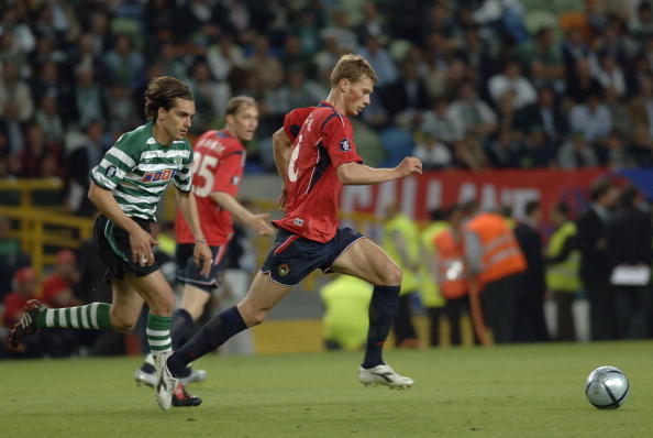 BT Sport, Football, UEFA Cup Final, Lisbon, 18th May 2005, Sporting Lisbon 1 v CSKA Moscow 3, Alexey Berezutskiy of Moscow