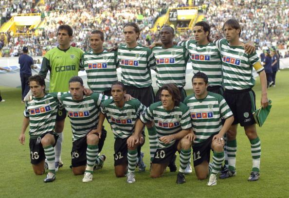Sport, Football, UEFA Cup Final, Lisbon, 18th May 2005, Sporting Lisbon 1 v CSKA Moscow 3, Sporting Lisbon team group