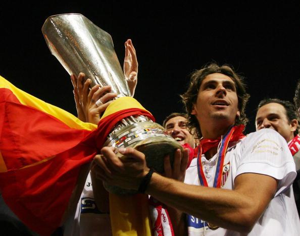 Sevilla's French defender Julien Escude