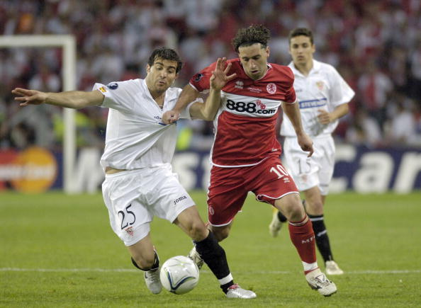 BT Sport. Football. UEFA Cup Final. Eindhoven. 10th May 2006. Middlesbrough 0 v Sevilla 4.