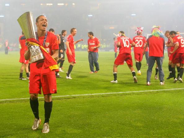 Sevilla's Brazilian midfielder Adriano (