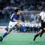 1990 World Cup Finals, Rome, Italy, 9th June, 1990, Italy 1 v Austria 0, Italy's Giuseppe Giannini shoots at goal