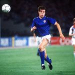 1990 World Cup Finals, Rome, Italy, 19th June, 1990, Italy 2 v Czechoslovakia 0, Italy's Nicola Berti