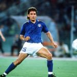 1990 World Cup Quarter Final. Rome, Italy. 30th June, 1990. Italy 1 v Republic Of Ireland 0. Italy's Roberto Baggio.