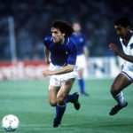 1990 World Cup Finals, Rome, Italy, 14th June, 1990, Italy 1 v USA 0, Italy's Roberto Donadoni on the ball