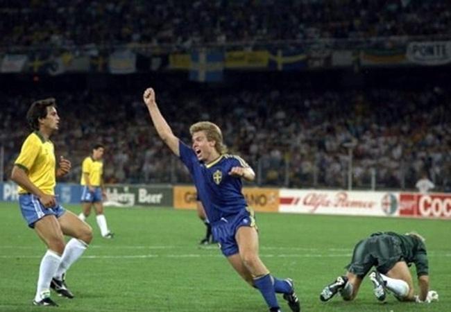 Brasile-Svezia 2-1; la rete di Brolin