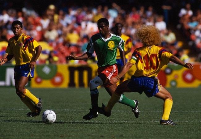 Camerun-Colombia 2-1; Oman Biyik e Valderrama