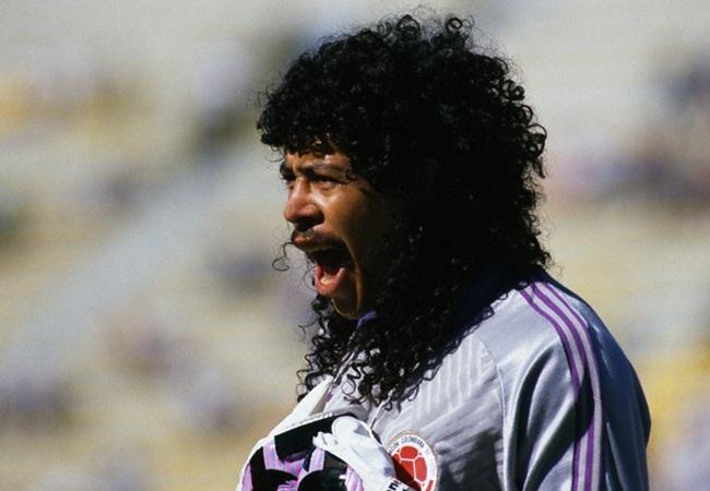 Colombia-Emirati Arabi 2-0; primo piano di Higuita
