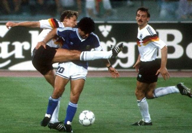 Germania-Argentina 1-0; Buchwald e Maradona