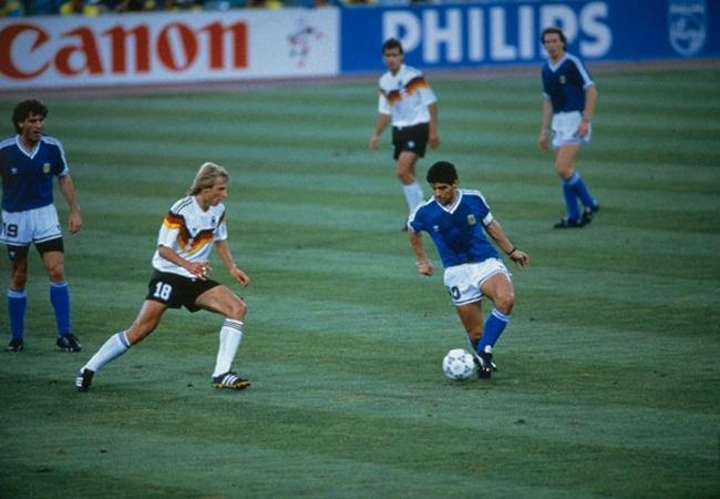 Germania-Argentina 1-0; Klinsmann e Maradona