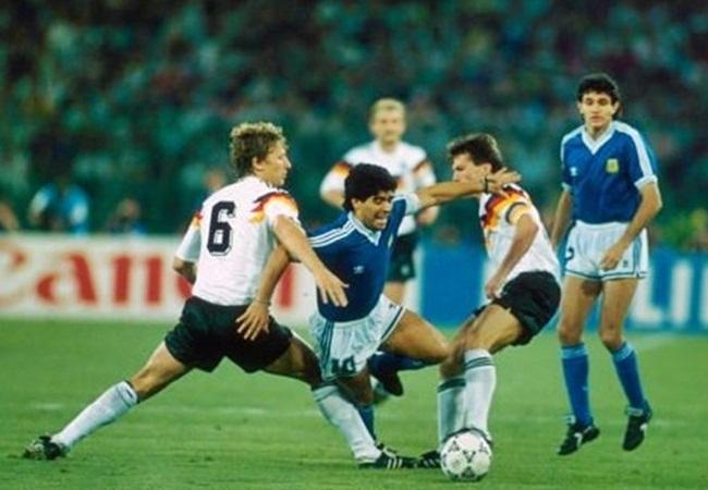 Germania-Argentina 1-0; Maradona nella morsa tedesca