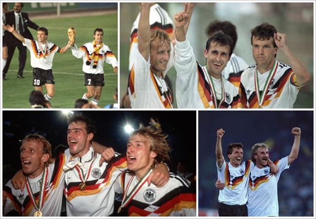 Germania-Argentina 1-0; foto-ricordo per la Germania campione