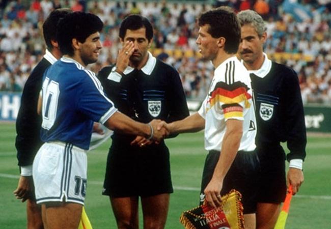 Germania-Argentina 1-0; i capitani Maradona e Matthaus
