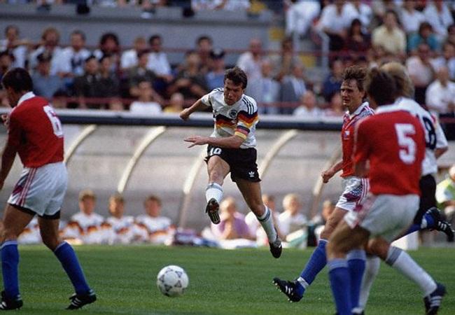 Germania-Cecoslovacchia 1-0; Matthaus al tiro