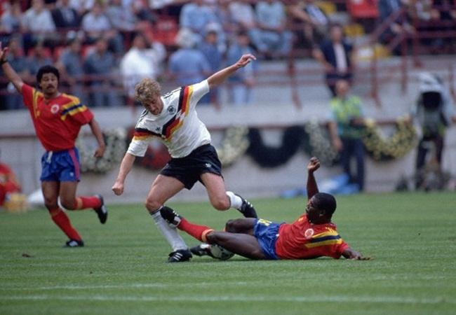 Germania-Colombia 1-1; Voeller e Herrera