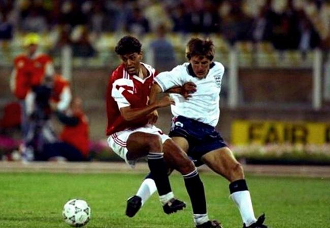 Inghilterra-Egitto 1-0; Soliman e Beardsley