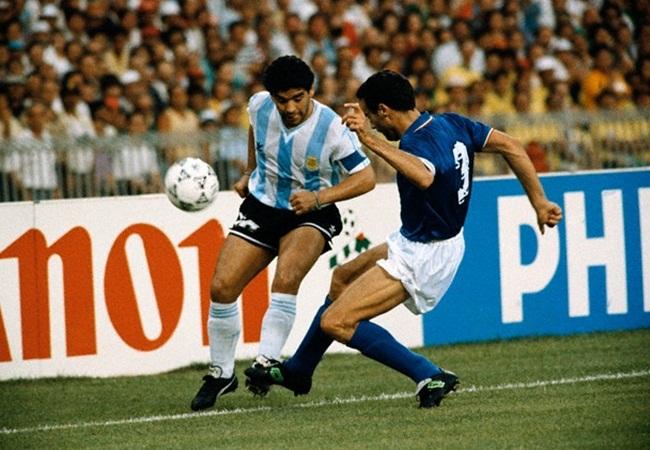 Italia-Argentina 1-1(3-4 dcr); Maradona e Bergomi