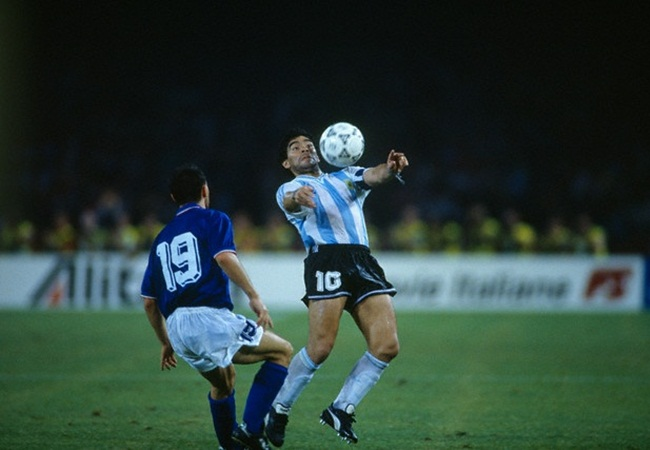 Italia-Argentina 1-1(3-4 dcr); Schillaci e Maradona