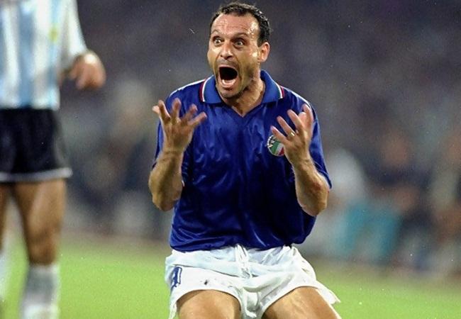 Italia-Argentina 1-1(3-4 dcr); la grinta di Schillaci