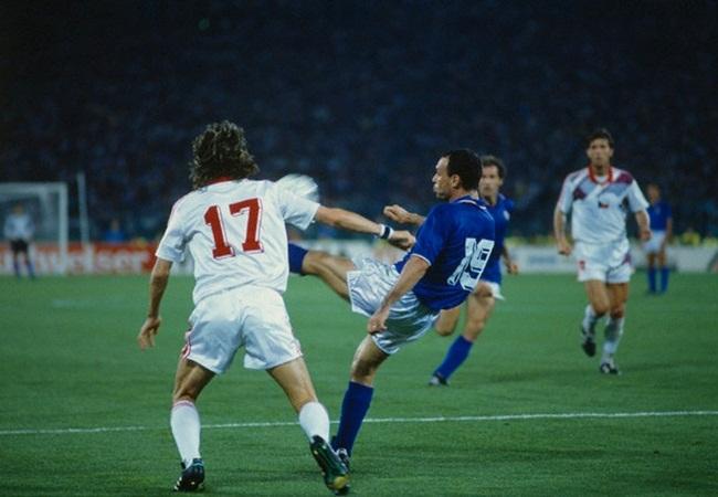 Italia-Cecoslovacchia 2-0; Knoflocek e Schillaci