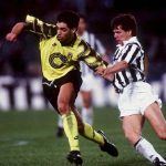 ITALY - MAY 19:  FUSSBALL: Finale UEFA - CUP JUVENTUS TURIN - BORUSSIA DORTMUND 3:0 19.05.93, Ned ZELIC/Andreas MOELLER  (Photo by Bongarts/Getty Images)