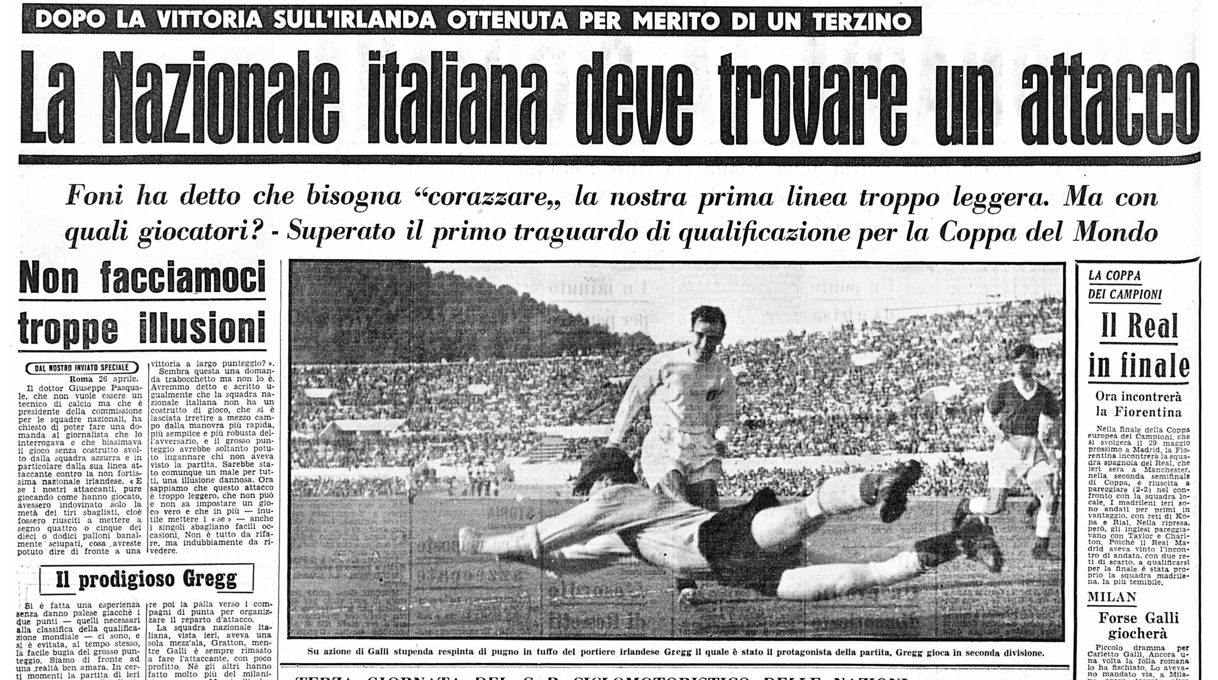 italia irlanda aprile 1957