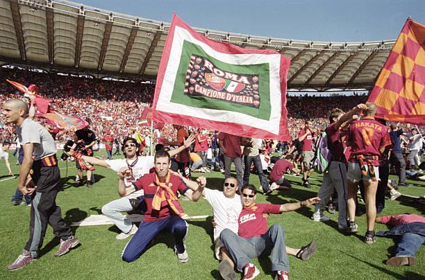 roma scudetto festa tifosi