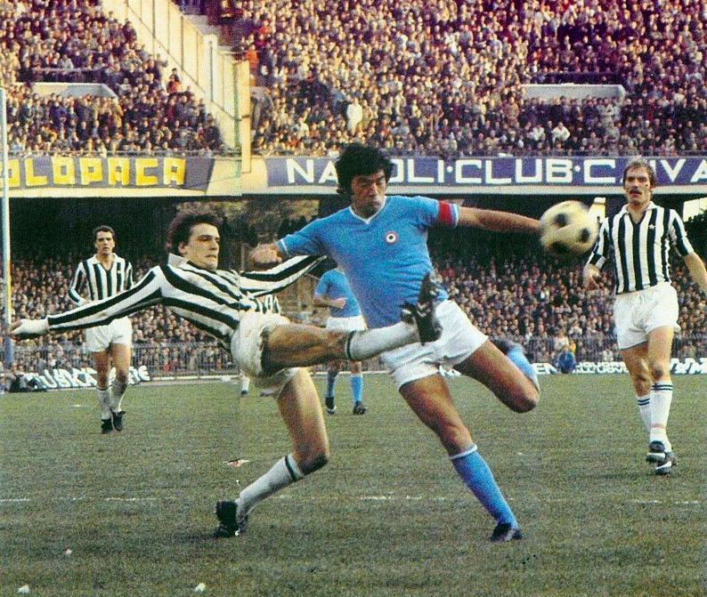 Napoli – Juventus 0-2, Juliano contrastato da Tardelli
