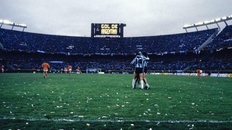 1978 argentina olanda 3-1 esultanza campo pieno-