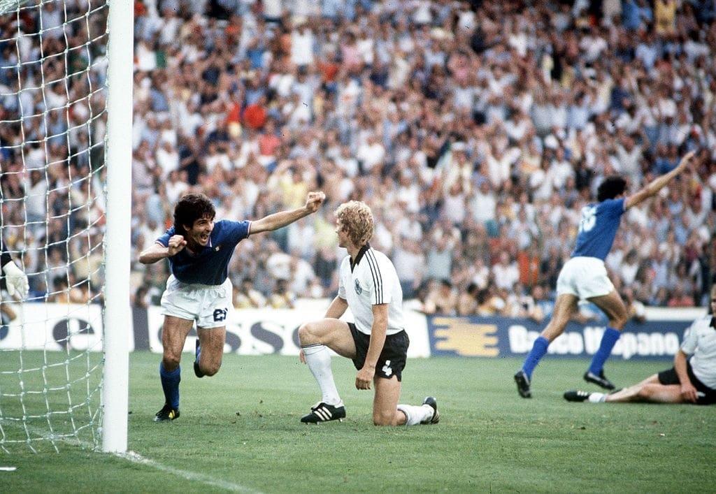 1982 italia germania 3-1 la rete del 1-0 di Rossi