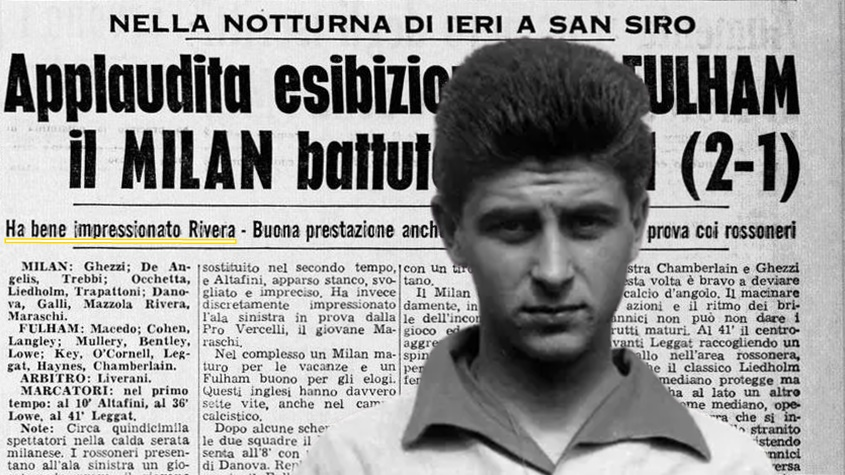 esordio rivera milan 1960