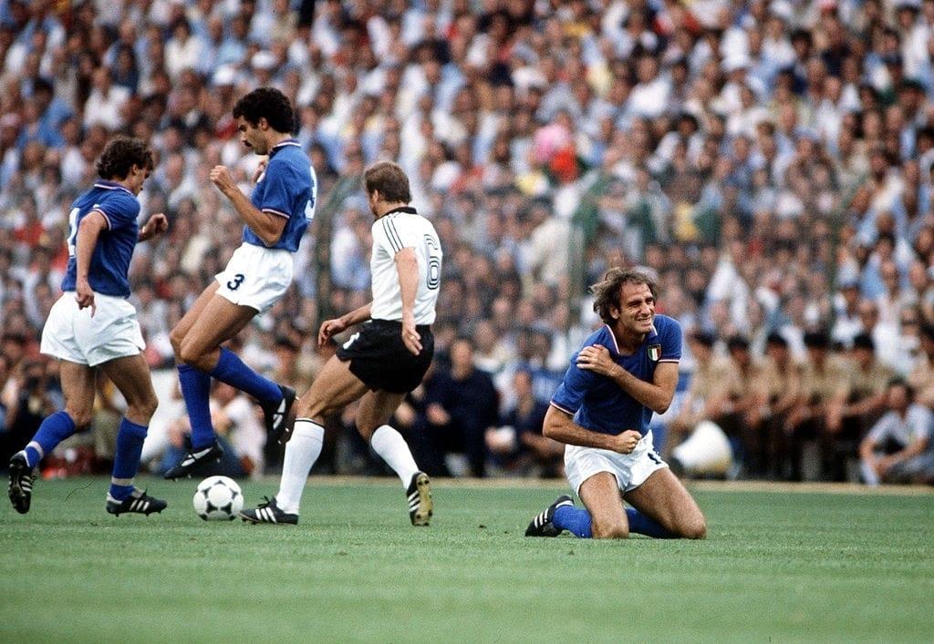 italia germania madrid 1982 infortunio graziani