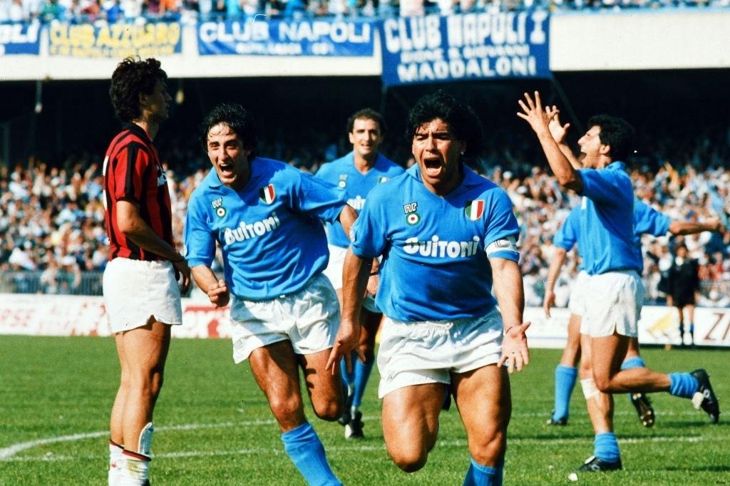 milan napoli 1988 maradona